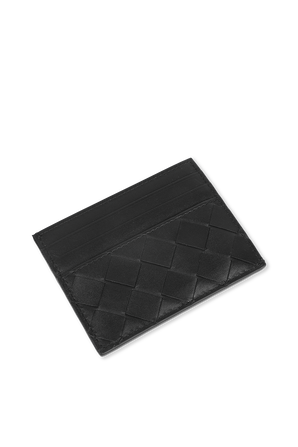Textured Leather Cardholder in Black BOTTEGA VENETA