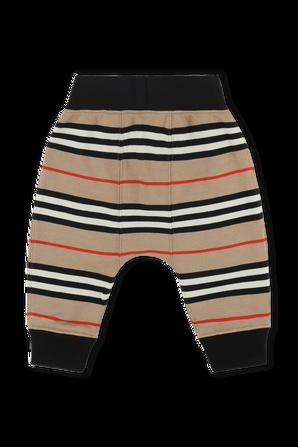 גילאי 6-24 חודשים מכנסיים בפסים אייקוניים BURBERRY