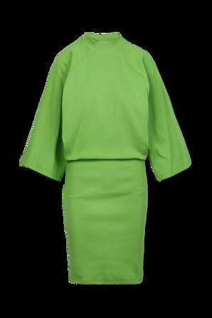 Wide Midi Dress in Green THE ATTICO