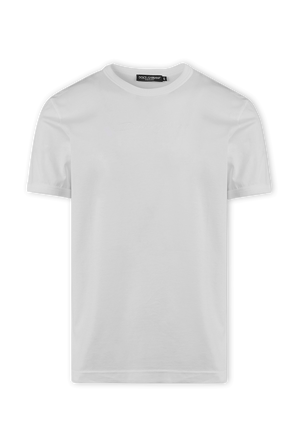 White Embroidered Signature Logo Tee DOLCE & GABBANA