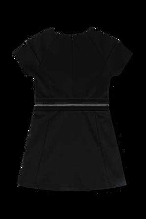 גילאי 4-16 שמלה שחורה עם לוגוטייפ CALVIN KLEIN