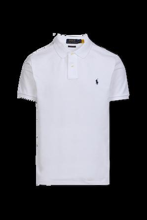 Slim Fit Polo Shirt in White POLO RALPH LAUREN