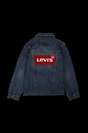 גילאי 8-16 ז'קט ג'ינס בכחול עם לוגו LEVI`S KIDS