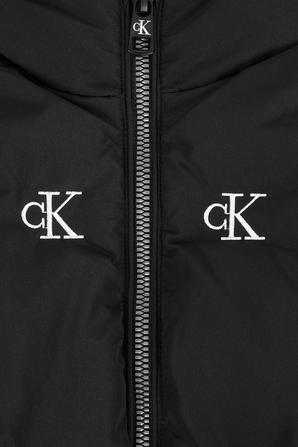 מעיל פאפר לוגומאני בצבע שחור CALVIN KLEIN