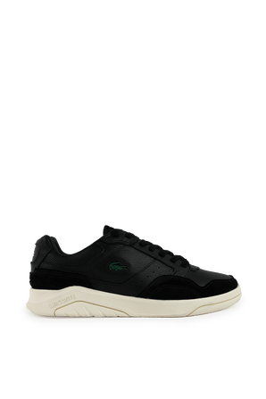 Leather and Suede Trainers in Black LACOSTE