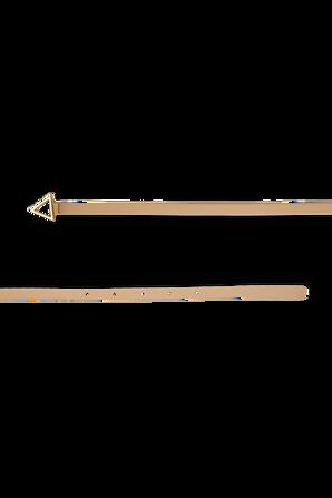 Triangle Leather Belt in Almond BOTTEGA VENETA