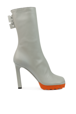 Sponge Ankle Boots in Grey OFF WHITE