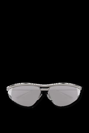 Sunglasses With a Silver Frame BOTTEGA VENETA