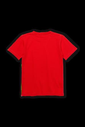 גילאי 2-12 חולצת טי באדום עם פאץ' לוגו בחזה LACOSTE KIDS