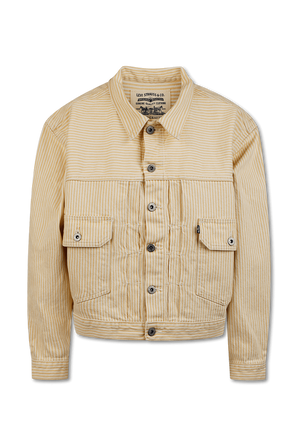 Sunray Traucker Jacket In Yellow and White LEVI`S