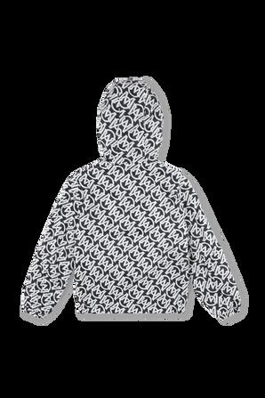 גילאי 12-14 מעיל רוח בהדפס לוגו MONCLER KIDS