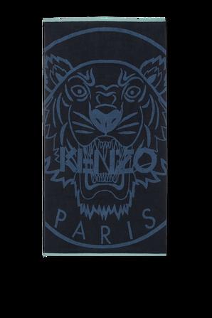 Beach Towel With Logo in Blue KENZO