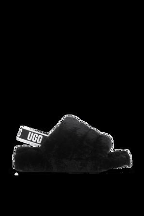 Fluff Yeah Slides in Black UGG