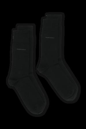 2-Pack Logo Socks in Black BOSS