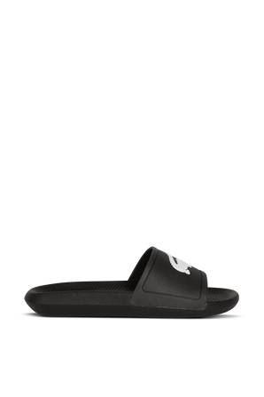 Croco Slides In Black And White LACOSTE
