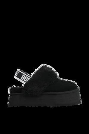 Fluff Funkette Slides in Black UGG