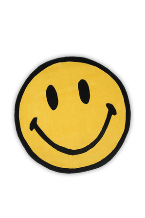 Smiley Rug in Yellow CHINATOWN MARKET