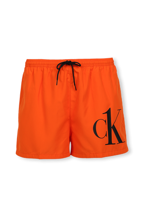 Logo Swim Shorts In Orange CALVIN KLEIN