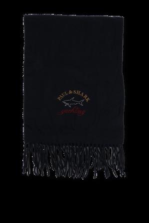 Wool Logo Scarf in Blue PAUL & SHARK