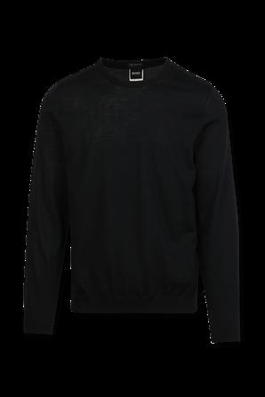 Leno Slim Knitwear Jumper in Navy BOSS