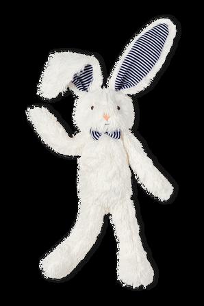 בובת ארנב בלבן עם אוזניים כחולות PETIT BATEAU