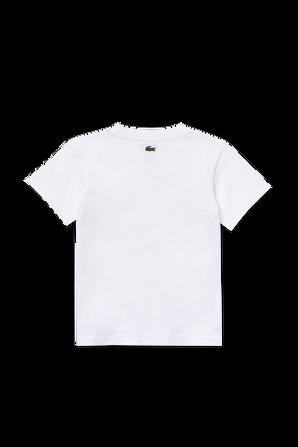 גילאי 2-12 חולצת טי לבנה עם לוגו LACOSTE KIDS