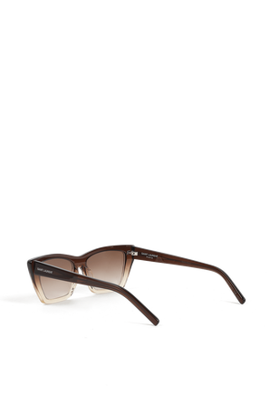 New Wave Sunglasses in Brown SAINT LAURENT