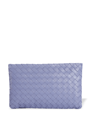 Interwined Pouch Square Clutch in Lavender BOTTEGA VENETA