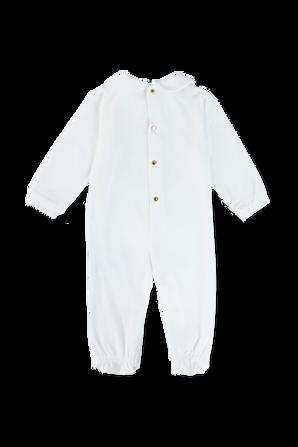 גילאי 0-9 חודשים אוברול עם לוגו מדוזה מוזהב VERSACE KIDS