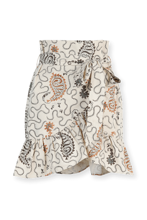 Liliko Cotton Skirt in Paisley Print ISABEL MARANT