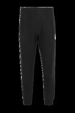 מכנסי ג'וג סלים בצבע שחור OFF WHITE