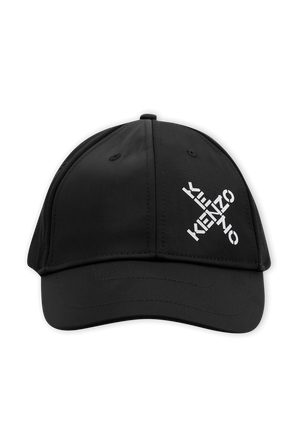 X Logo Baseball Cap in Black KENZO