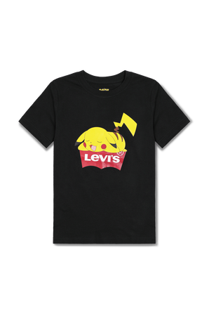 גילאי 8-14 חולצה הדפס פיקאצ'ו בשחור Lewis Kids Pokemon