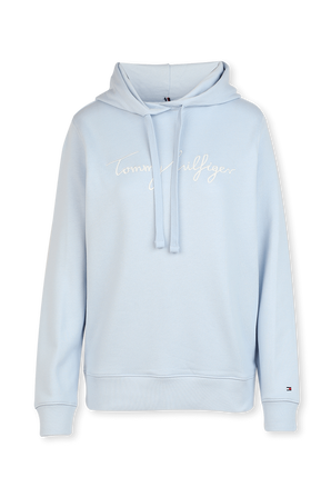 Signature Logo Hoodie in Light Blue TOMMY HILFIGER
