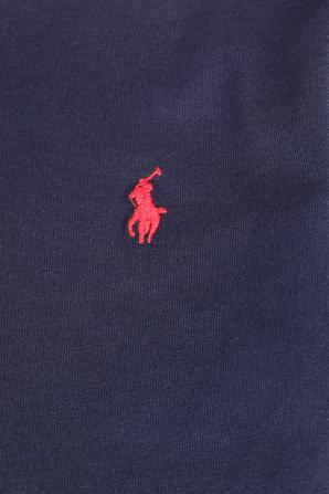 גילאי 2-4 חולצת טי בנייבי עם רקמת פרש POLO RALPH LAUREN KIDS