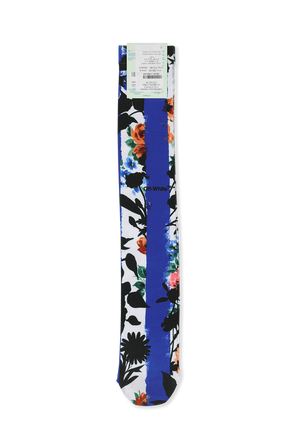 Printed Socks in White and Blue OFF WHITE