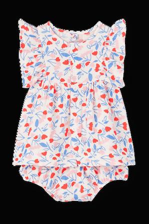גילאי NB-12 חודשים שמלה בהדפס פרחוני PETIT BATEAU