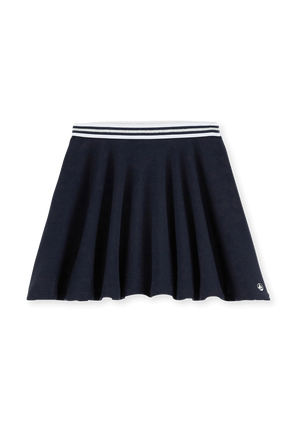 גילאי 6-12 חצאית מיני פליסה בכחול נייבי PETIT BATEAU