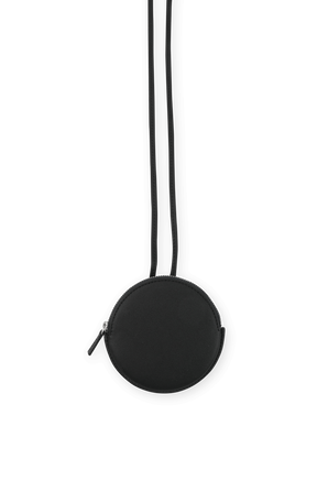 Le Pitchou Round Coin Purse in Black JACQUEMUS
