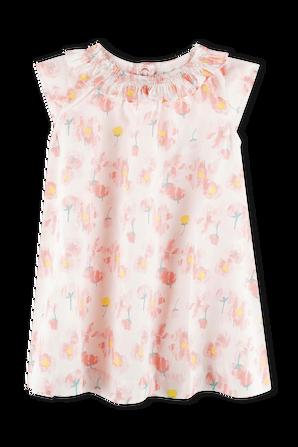 גילאי 18-36 חודשים שמלה בהדפס פרחוני PETIT BATEAU