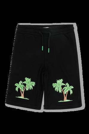 גילאי 2-14 מכנסיים קצרים בהדפס דקלים STELLA McCARTNEY KIDS