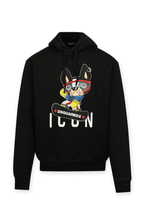 Icon Hoodie in Black DSQUARED2