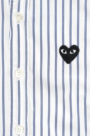 גילאי 2-6 חולצת כפתורים עם מיני לוגו בשחור COMME des GARCONS KIDS