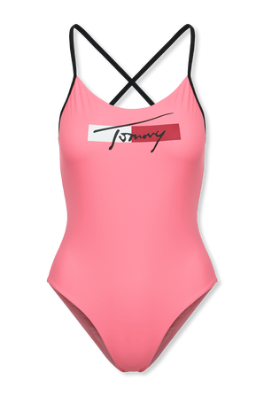 Crossover Cheeky Fit Swimsuit In Pink TOMMY HILFIGER