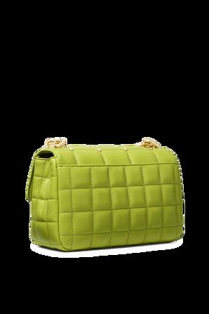 Soho LG Studded Quilted Leather Shoulder Bag in Lime MICHAEL KORS