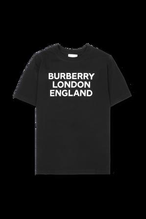 גילאי 3-14 חולצת לוגו בשחור BURBERRY