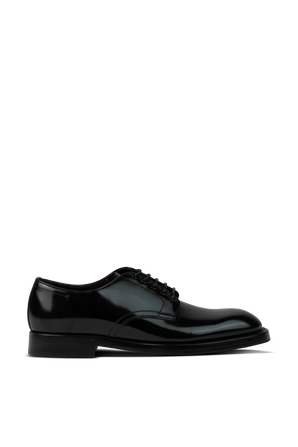 Shiny Classic Leather Shoes in Black DOLCE & GABBANA