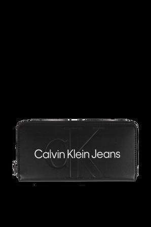 Zip Around Wallet in Black CALVIN KLEIN
