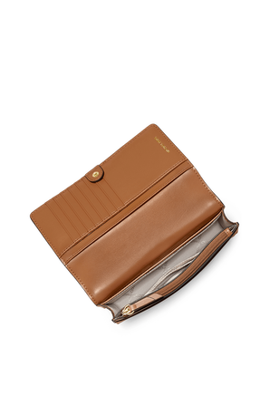 Jet Set SM Logo Smartphone Crossbody Bag in Brown MICHAEL KORS