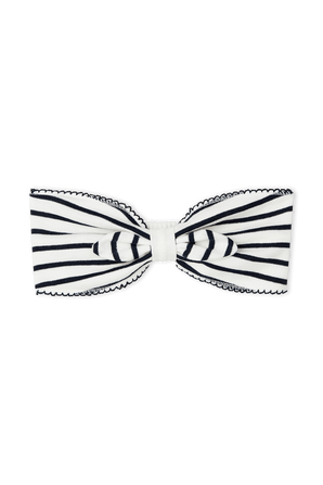 Stripes Hair Bow in Black and White PETIT BATEAU